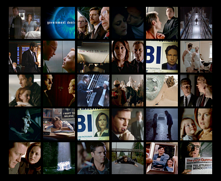 x-files collage
